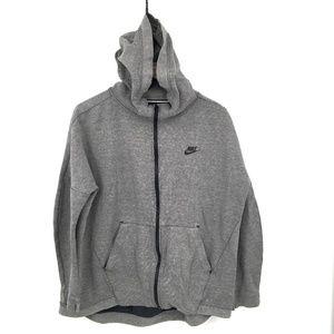 Nike Tech full Zip up Front Hoodie hooded sweatshirt athleasure Gray Marl L Mens
